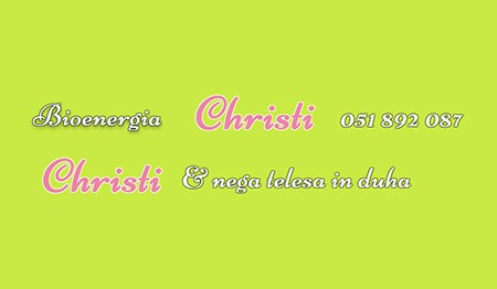 CHRISTI, NEGA TELESA, ZDRAVJE, WELLNESS TER LEPOTA