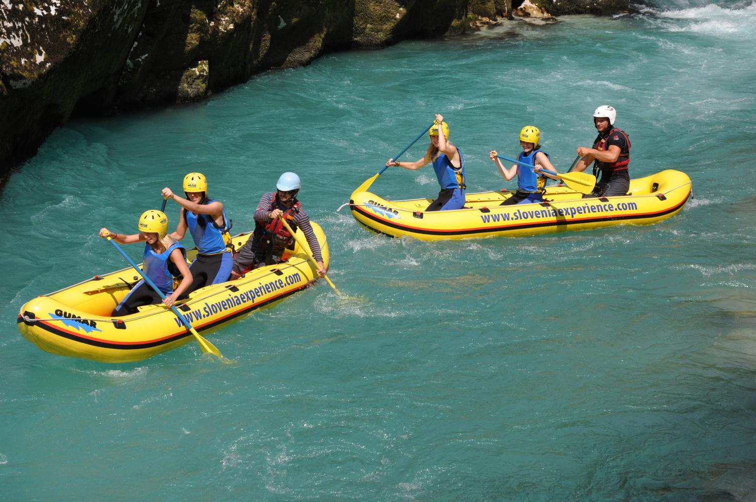 Mini Rafting, Kamp Labrca team