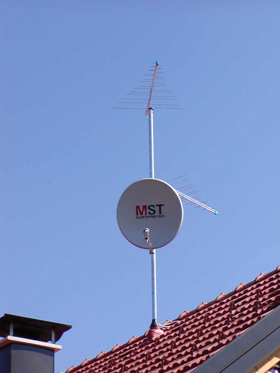 Montaža, servis, satelitskih, DVB-T, anten, kabelska DTV, trojček , Total TV, Lastovka TV,naročila..