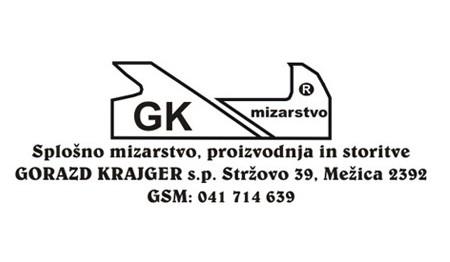 GK SPLOŠNO MIZARSTVO, PROIZVODNJA IN STORITVE, GORAZD KRAJGER S.P., MEŽICA