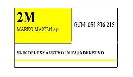 2M, SLIKOPLESKARSTVO IN FASADERSTVO, KAMNIK