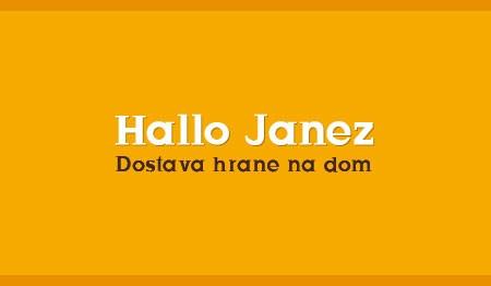 HALLO JANEZ, DOSTAVA HRANE NA DOM, LJUBLJANA